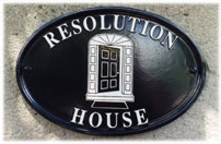 Resolution House plaque